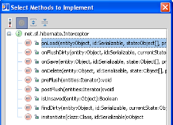 Screenshot of IDEA: methods you can implement