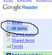 Google Reader is empty!